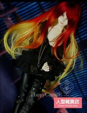 BJD Doll Hair Wig 9-10 inch Mix Red Orange Yellow 1/3 SD DZ DOD LUTS wave hair