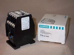 SIEMENS 3TH8346-0AM0 contactor relay 220/264VAC (NIB)