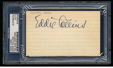 EDDIE COLLINS SIGNED INDEX CARD PSA/DNA SLABBED AUTOGRAPHED HOF 1919 WHITE SOX