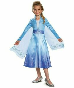 Disguise Girl's Disney Frozen 2 Elsa Deluxe Costume & Wig Dress Up Sz. 3T-4T NWT