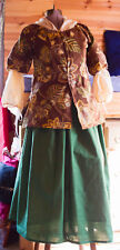 colonial rev war 4 piece 18th century complete outfit cotton sz XL