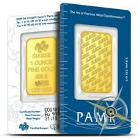 PAMP Suisse 1 oz .9999 Fine Gold Bar - Sealed in Assay Card