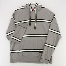 SOUTHPOLE Gray White Striped L/S Hoodie Sweatshirt Pullover Youth Boys XXL 2XL