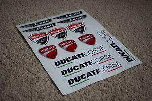 Ducati Corse Bike Motorbike Motorcycle Car Decal Stickers Logos Badges