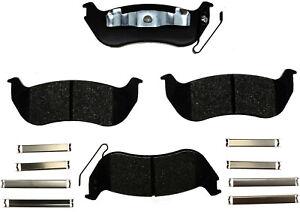 Disc Brake Pad Set-Ceramic Disc Brake Pad Rear ACDelco Pro Brakes 17D981CH
