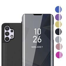 Handy Hülle für Samsung Galaxy A32 4G Smart View Case Spiegel Cover Tasche Etui