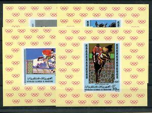 Mauretanien 680/83 postfrische Sonderblöcke / Olympiade ................. 2/2249