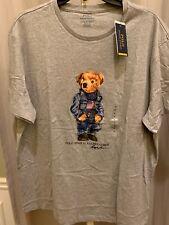 - Limited Edition Ralph Lauren Polo Bear Denim American Flag T-shirt Size XL
