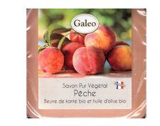 Jabon de Aceite Vegetal Galeo de Tocador de Francia Melocoton + Lata 7190mel