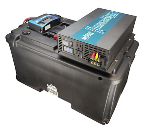 3000W Pure Sine MPPT Solar Generator, Solar Battery Box w Inverter, USB, 12V
