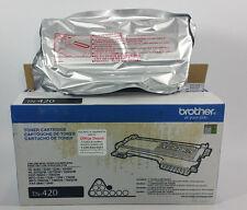 NEW Genuine Brother TN420 TN-420 Standard Toner Cartridge Black OEM Original