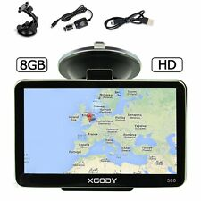 XGODY 560 5'' Truck Car GPS Navigation Navigator 2D 3D Map Speedcam 8GB ROM 128M