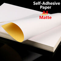 21x29cm A4 Matte Sticky Label Sticker Self-adhesive Paper Inkjet Laser Print Lot