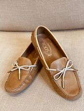 Women Tods Light Tan Moccasin Driving Shoes Size EU 35.5- UK 3/3.5. Lightly Used