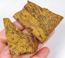 263.8Ct Natural Golden Lace Stripe Agate Slice Rough Facet Specimen YGM307