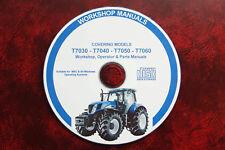 New Holland T7030 T7040 T7050 T7060 Workshop Manual Operator Parts Manuals