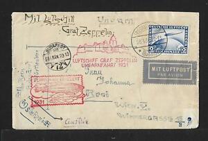 ZEPPELIN UNGARNFAHRT GERMANY TO AUSTRIA AIRMAIL COVER 1931