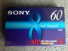 Sony 60 mins video 8 camcorder cassette tape -P6-60MP -NEW SEALED