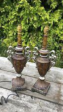 Une belle paire de Vintage Lampe De Table Lumières *