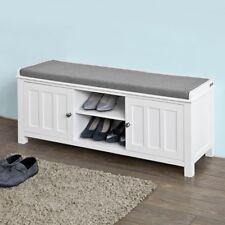 SoBuy® Sitzbank, Bettbank, Schuhschrank, Garderobenbank mit Sitzkissen, FSR35-W