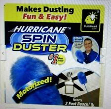 Hurricane Spin Duster Motorized Dust Wand w/ Free Extension For Ceiling Fans