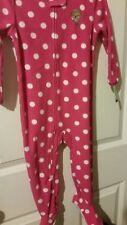 CARTER'S PINK GIRL'S POLYESTER FOOTED SLEEPER PAJAMAS  SIZE 24 MONTHS