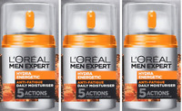 Loreal Men Expert Hydra Energetic Daily Moisturizing Lotion, 1.6 Oz (3 Pack)