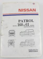 MQ 160  161 Nissan Patrol 1980 workshop manual
