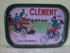 VINTAGE PLAQUE PLATEAU CYCLES & AUTOMOBILES CLEMENT VELO TOUR DE FRANCE