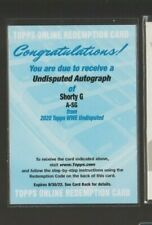 2020 Topps WWE Undisputed Shorty G Chad Gable On Card Autograph Auto Redemption