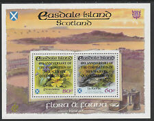 GB Locals - Easdale (1199) 1993 Coronation black opt on FLOR & FAUNA sheet u/m