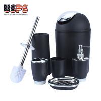 6Pcs/set Plastic Bathroom Suit Bath Accessories Cup Toothbrush Holder Soap Dish