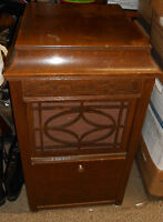 Pair Edison Disc Model C-150 Quarter Sawn Oak Upright Players