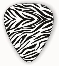 10 X ZEBRA SKIN ~ GUITAR PICKS ~ PLECTRUMS  *Printed Both Sides*