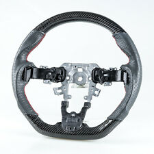 Flat Bottom Carbon Perforated Leather Steering Wheel For Mazda 3 Mazda 5 10-15