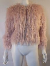 COACH Shaggy Light Pastel Pink Faux Fur Jacket sz XS / S NWT $795