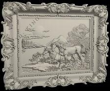 3D Stl Models # Horses & Sunset # for Cnc Aspire Artcam 3D Printer 3D Max