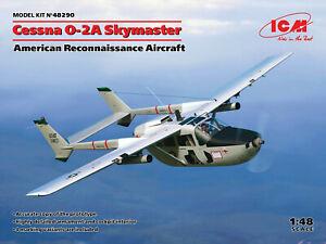 ICM 1/48 Cessna O-2A Skymaster, American Reconnaissance Aircraft Plastic Model K