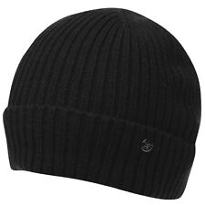 MENS BLACK NO FEAR FISHERMANS DOCK KNIT KNITTED HAT BEANIE BEENIE BEANY