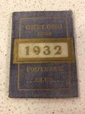 1932 Geelong Football Club Membership Season Ticket Cats