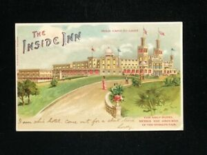 MO ST. LOUIS 1904 WORLDS FAIR EXPO INSIDE INN HOLD TO LIGHT CARD EXPO STA. CANCL