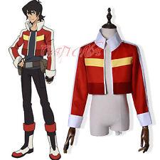 Cafiona Voltron: Legendary Defender Keith Cosplay Costume Jacket Red Short Coat