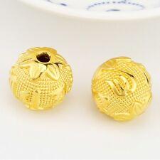 1pcs 999 NEW Pure 24K Yellow Gold 16mm Unique Bless Maxim Lucky DIY Bead Pendant