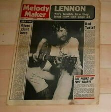 CAT STEVENS JOHN LENNON ON COVER OF MELODY MAKER MAGAZINE OCTOBER 7TH, 1971 nice