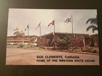 Home of the Western White House - San Clemente, Ca. vintage postcard