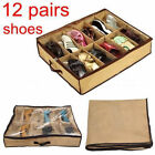 12 Pairs Shoes Storage Organizer Holder Shoe Organizer Bag Box Under Bed Closet