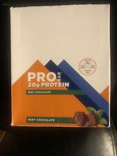 Pro Bar Protein Nutrition Bar 12 Pack Mint Chocolate Gluten Free Exp 07/2021