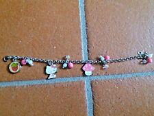 Braccialetto vintage Hello Kitty Official Merchandise Girls Multi Charm Bracelet