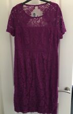 BNWT Dorothy Perkins Size 16 Purple Lace Pencil Dress