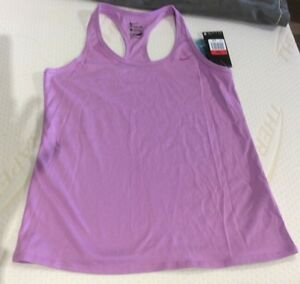 Nike Fitness 5 Dri-Fit Scoop Neck Racerback Workout SPORTS Tank sz LARGE